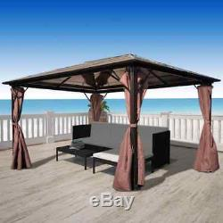 13'x10' Heavy Duty Gazebo & Curtain Outdoor Sofa Set Patio Canopy Awning 10x10