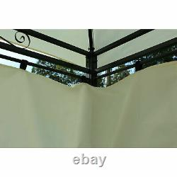 13'x10' Outdoor Patio Gazebo 2-Tier Roof Pavilion Vented Canopy Tent Steel