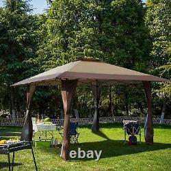 13' x13' UV Block Sun Shade Gazebo Canopy Gazebo Shade for Outdoor Patio/ Garden