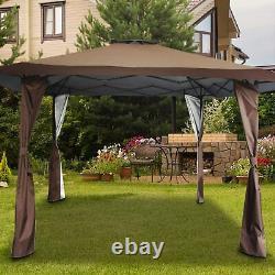 13' x 13' Large Outdoor Canopy Patio Gazebo Tent Pop-up Beach Shade Waterproof