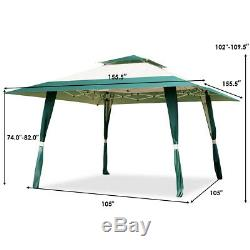 13x13 Folding Gazebo Canopy Patio Outdoor Tent Beach Party Shade Shelter Green