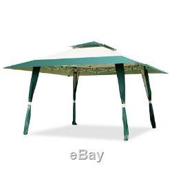 13x13 Folding Gazebo Canopy Shelter Awning Tent Patio Outdoor Companion Green
