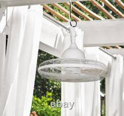 20-in White Hanging Indoor Outdoor Ceiling Fan (3-Blade) Patio, Gazebo, Porch