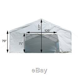 20'x20' Party Tent Outdoor Carport Canopy Gazebo Holiday Event Sides Heavy Duty