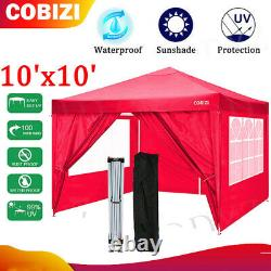 2 IN 1 10'x10' Outdoor Canopy Tent, Pop Up Canopy and Gazebo Portable Party-Hot