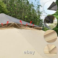 2-Tier 11'x11' Gazebo Canopy Tent Shelter Awning Steel Patio Garden Outdoor /Bag