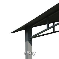 3x3(m) Outdoor Patio Gazebo Pavilion Canopy Tent Steel Frame Grey