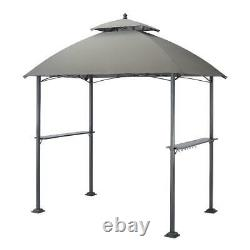 5' X 8' Outdoor Grill Gazebo With Canopy Top Heavy Duty Outdoor BBQ Tent Gray