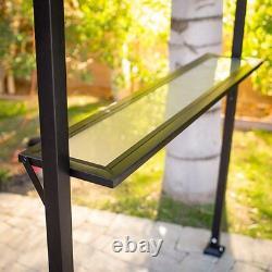 8' x 5' Brown Canopy Patio Grill Gazebo Home Outdoor Furniture Garden Backyard