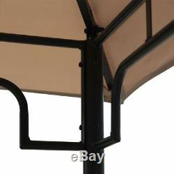 8 x 5 Outdoor BBQ Grill Gazebo Grill Tent Barbecue Canopy with 2-Tier Soft Top