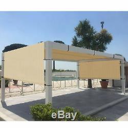 8' x 9' Outdoor Pergola Gazebo with Sun Shades, Patio Steel Canopy Shades