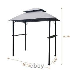 8x5Ft Outdoor Barbecue Grill Gazebo Canopy Patio BBQ Shelter Trellis Pool Tent