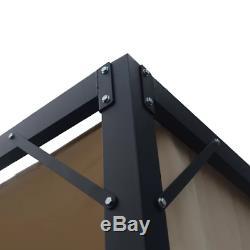 9' x 9' Outdoor Steel Gazebo Frame Canopy Patio Pergola Metal Garden Furniture
