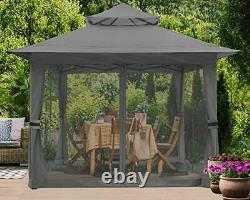 ABCCANOPY 13'x13' Gazebo Tent Outdoor Pop up Gazebo Canopy Shelter with Mosquito