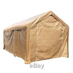 ALEKO Beige 10' x 20' Heavy Duty Outdoor Gazebo Canopy Tent with Sidewalls