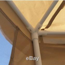 ALEKO Double Roof Hexagon Canopy Outdoor Patio Gazebo With Netting 6.5X6.5X6.5Ft