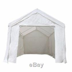 ALEKO Heavy Duty Outdoor Gazebo Canopy Tent with Sidewalls White Color