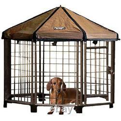 Advantek 23230E 3 Foot Portable Indoor Outdoor Steel Pet and Dog Gazebo House