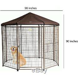 Advantek 8 Foot Portable Indoor Outdoor Galvanized Steel Pet and Dog Gazebo