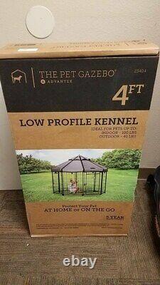 Advantek Pet Gazebo 4FT Low Profile Kennel Corral Indoor/Outdoor PP