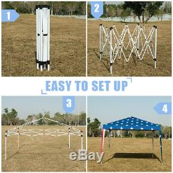 Attractive U. S. A Flag Print Outdoor 10 x 10 Pop-up Canopy Tent Gazebo Canopy