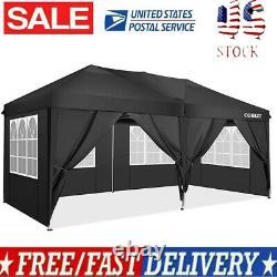 COBIZI 10x20ft Pop Up Canopy Outdoor Gazebo Wedding Party Tent with 6 Sidewalls