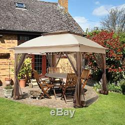 COOL Spot 11'x11' Pop-Up Gazebo Tent Instant with Mosquito Netting Outdoor Ga