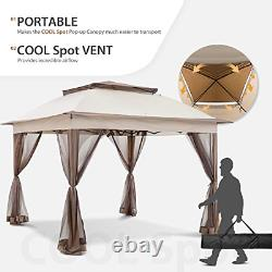 COOL Spot 11'x11' Pop-Up Gazebo Tent Instant with Mosquito Netting Outdoor with