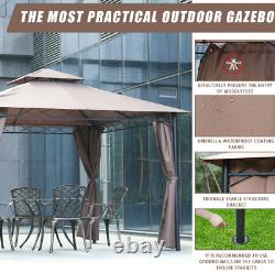 Canopy tent Gazebo 10' X 13' Grill gazebo for Patios bbq Outdoor Patio Large S