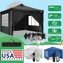 Canopy with Sides Pop Up Gazebo with Sides 10''x20/10'' Waterproof Gazebo Outdoor