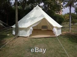 Canvas Bell Tent Gazebo Outdoor Event Canopy Sun Shelter Tarp Garden Event Tents