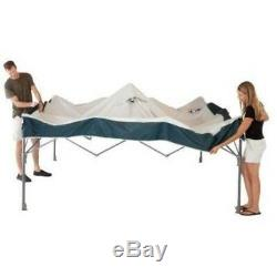 Coleman 10x10 Straight Leg Instant Canopy Gazebo Outdoor Pop Up Rectangular Tent