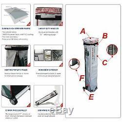 Custom LOGO Digital Printed 10X10 Outdoor EZ Pop Up Canopy Patio Gazebo Tent