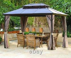 Erommy 10x13ft Outdoor Double Roof Hardtop Gazebo Canopy (ROOF ONLY)