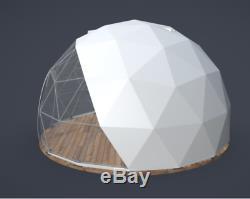 Garden Igloo Geodesic Dome Tent Gazebo Greenhouse Patio Outdoor Room PVC Frame