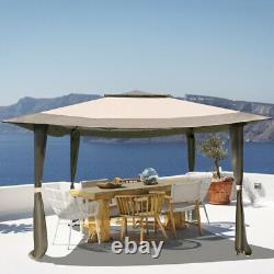 Gazebo Awning Pop-up Outdoor Canopy Tent For Patio Garden Party Wedding 12x12ft