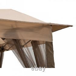 Gazebo Portable Steel Pop-Up Outdoor Canopy Wind Vent 10.82 Ft. W X 10.82 Ft