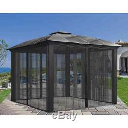 Gazebo Siena Outdoor Shelter Backyard Garden Aluminium Sliding Screen Doors
