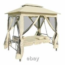 Gazebo Swing Bench Hammock Bed 3 Seater Outdoor Patio Lounger Chair With Canopy