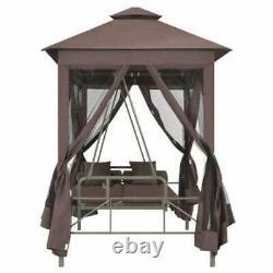 Gazebo Swing Chair Garden Patio Porch Seat Hammock Outdoor Furniture Coffee NEW