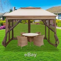 Gazebo Tent 10X10FT Instant with Mosquito Netting for Parties Outdoor Activities