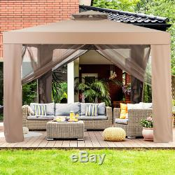 Gazebo Tent with Mosquito Netting Outdoor Patio Garden Shelter Wedding Party