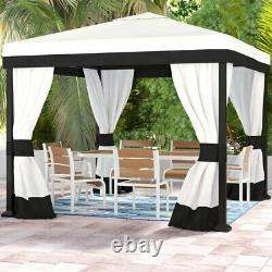 Gazebo for Patio Outdoor Garden Party Wedding Tent with Netting 10 Ft x10 Ft