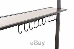 Grill Canopy Outdoor Patio Shelter Brown Steel Frame Grill Rain Shelter Cover