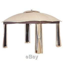 Hampton Bay 10 ft. X 12 ft. Turnberry Outdoor Patio Gazebo with Mosquito and