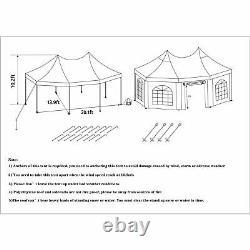 Heavy Duty Canopy Party 20'x14' Outdoor Wedding Tent Gazebo Octagonal White New
