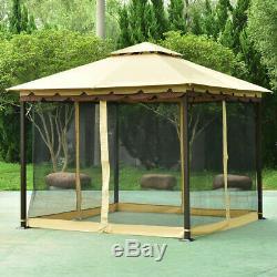 Heavy Duty Metal Gazebo Patio Shelter Garden Awning Outdoor Canopy Shed 10 x 10