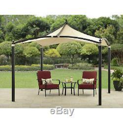 Heavy Duty Outdoor Gazebo Pergola 10' x 10' Steel Frame Garden Patio Sun Shelter