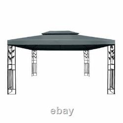 Instahut Gazebo 4x3m Party Marquee Outdoor Wedding Event Tent Iron grey Canopy
