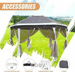 Koreyosh Gazebo Tent with Mosquito Net Party Canopy Tent Large Picnic Tent Outdoor